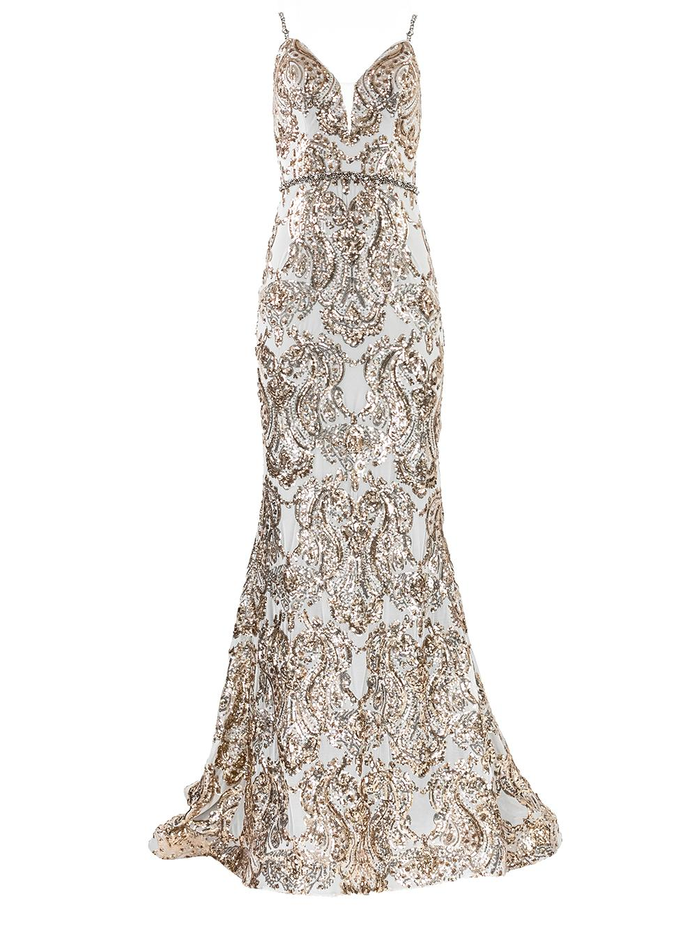 Sleeveless Embellished Gown Item # 67347