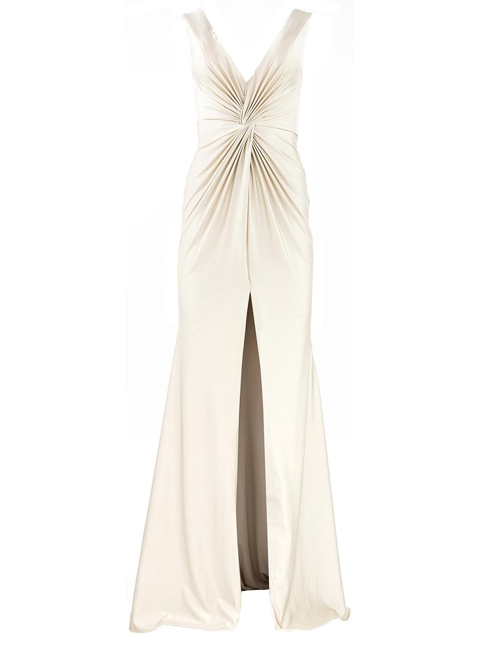 Sleeveless Front Knot Gown