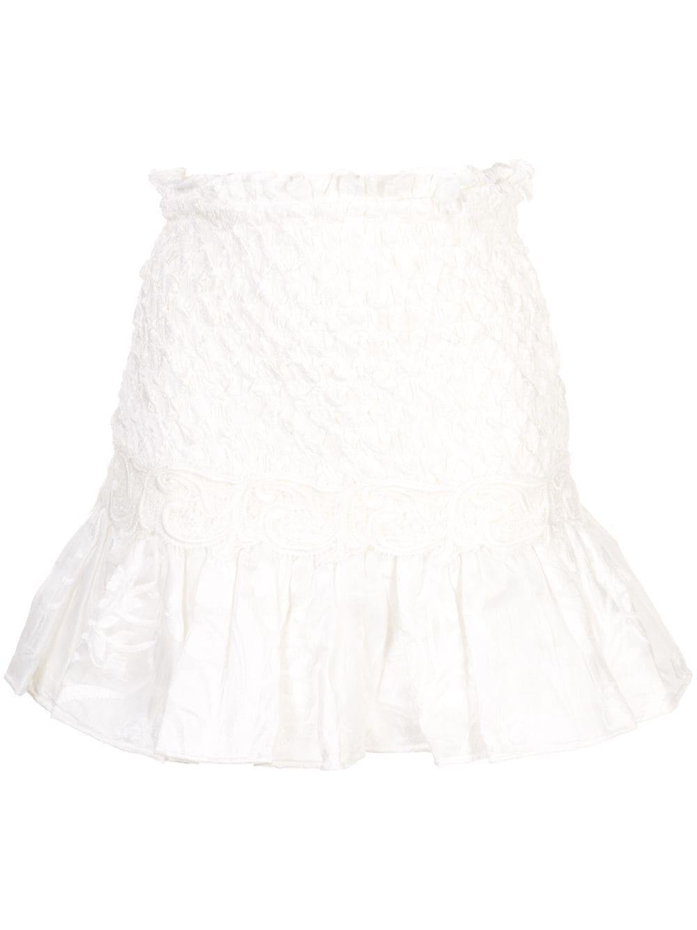 Lotus Ruched Mini Skirt