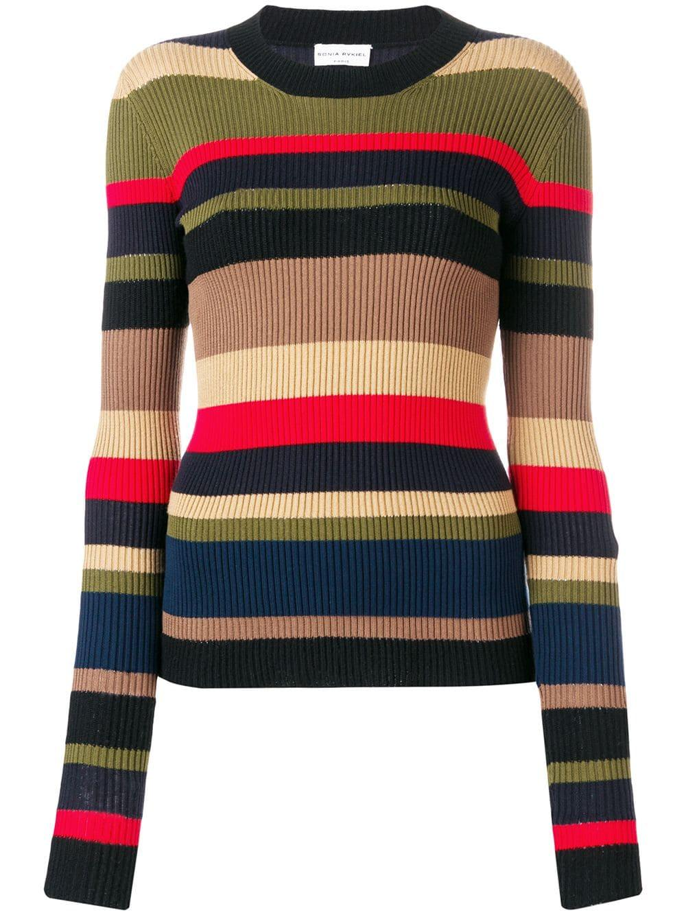 Multi Stripe Rib Knit