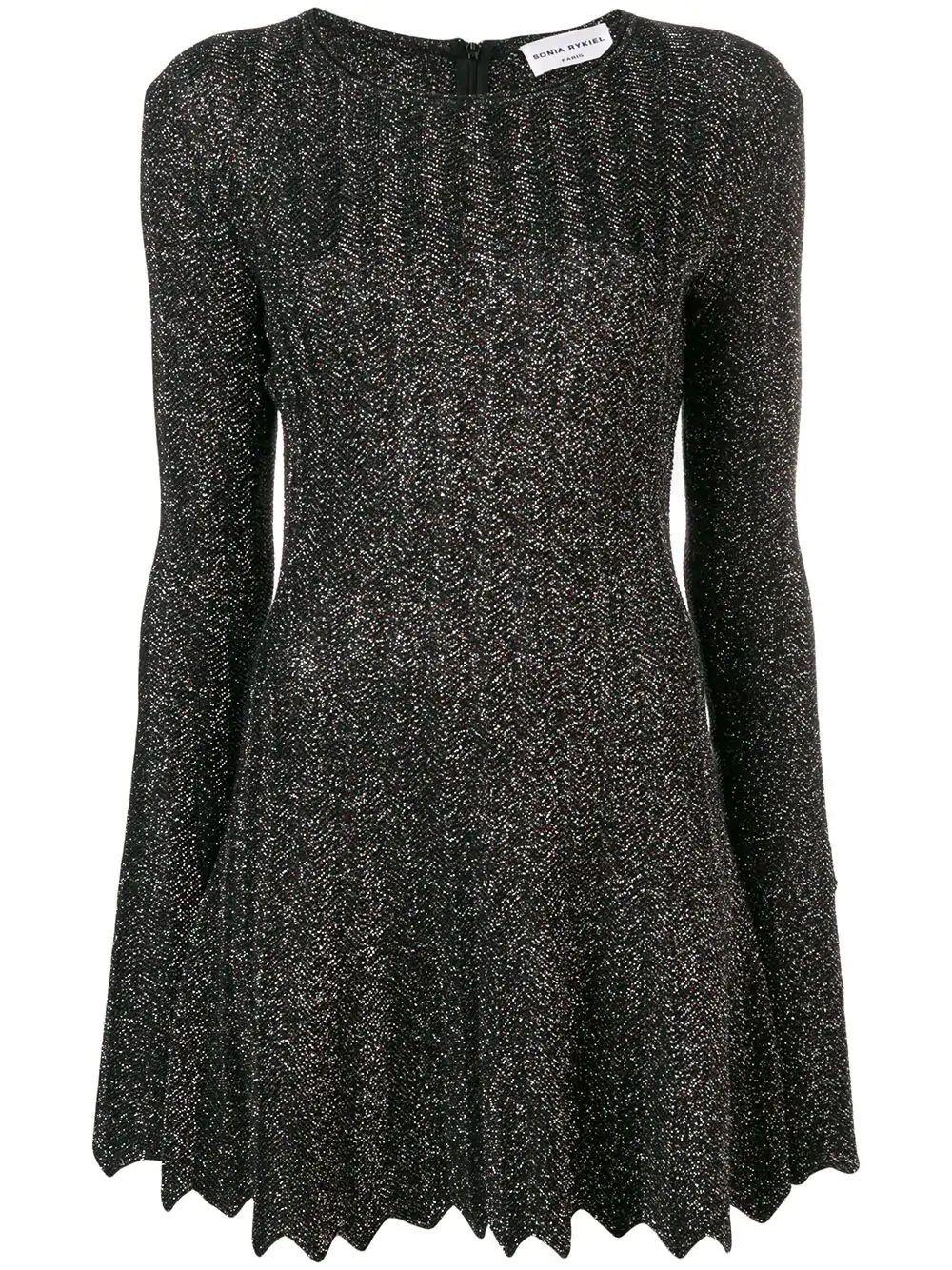 Long Sleeve Lurex Mini Dress