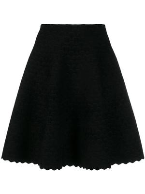Scalloped Short Length Skirt