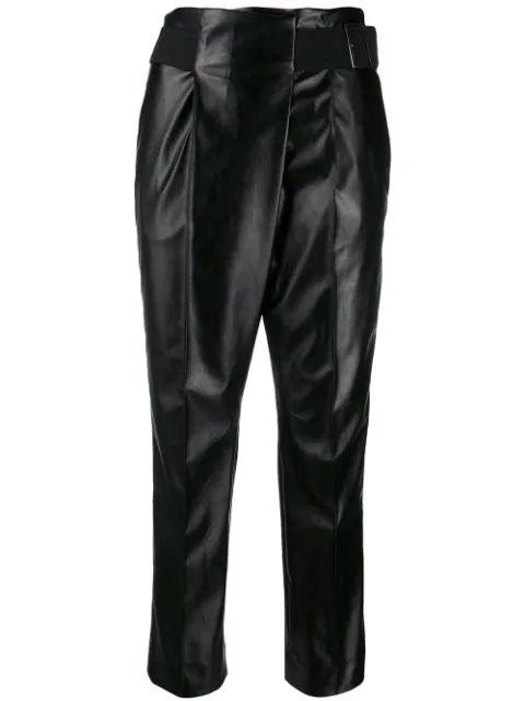 Modern Gloss Leather Loose Fit Pant