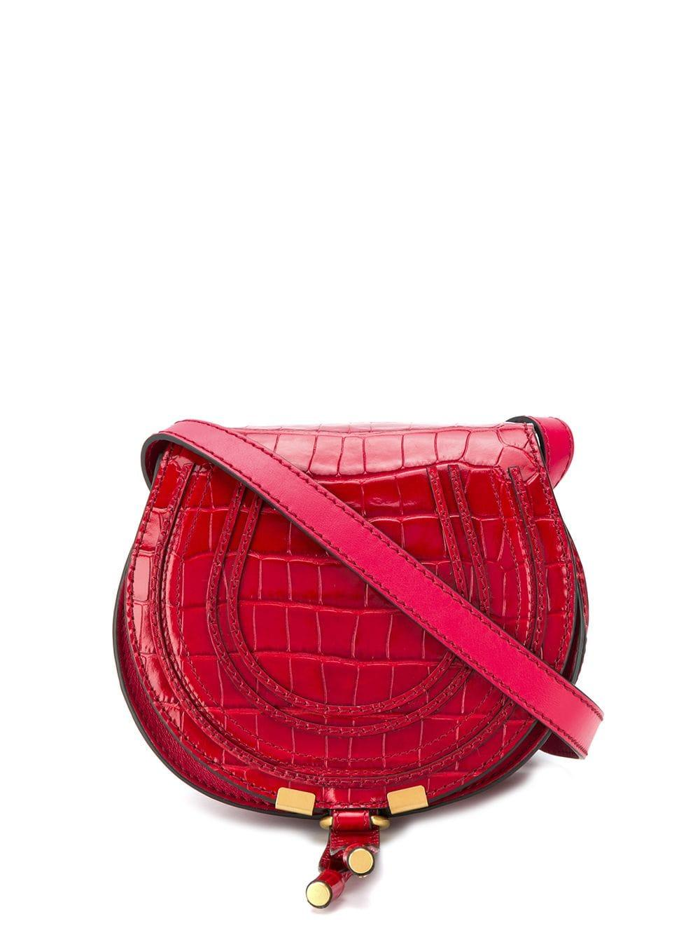 Marcie Small Croc Embroidery Bag