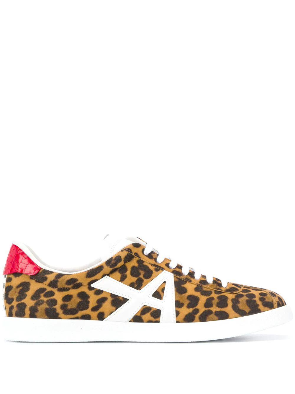 The A Jaguar Suede Printed Crocodile Sneaker