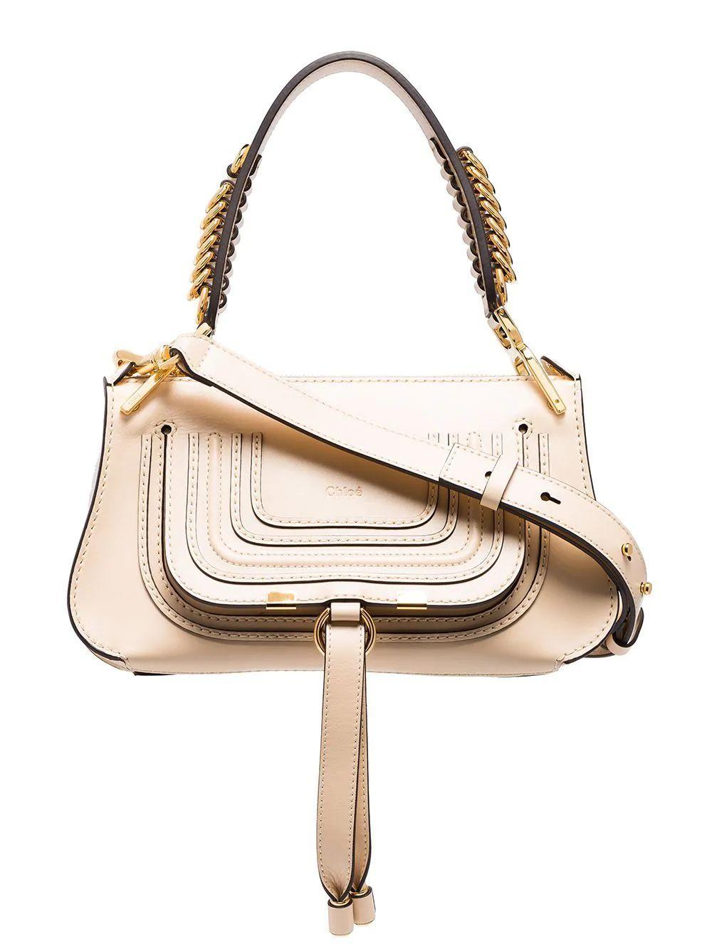 Marcie Small Leather Saddle Bag