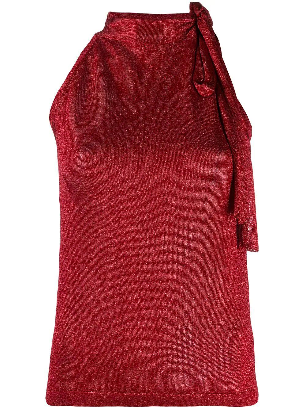 Sleeve Less Top With Neck Tie