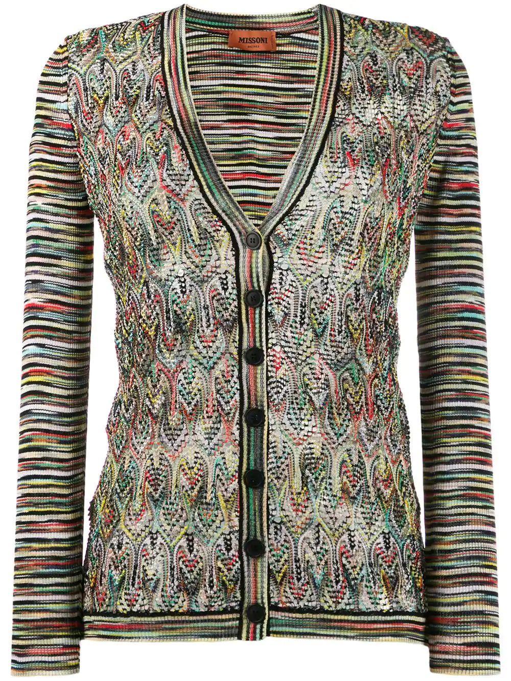 Long Sleeve Knit V-Neck Cardigan