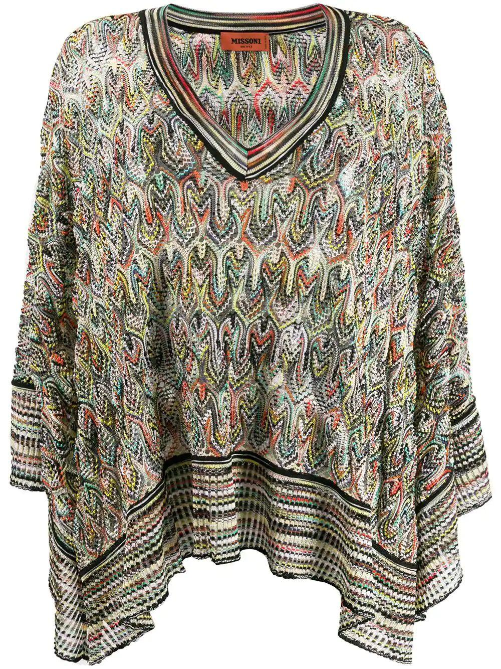 Long Sleeve Knit V- Neck Top Item # MDB00024-BR002K