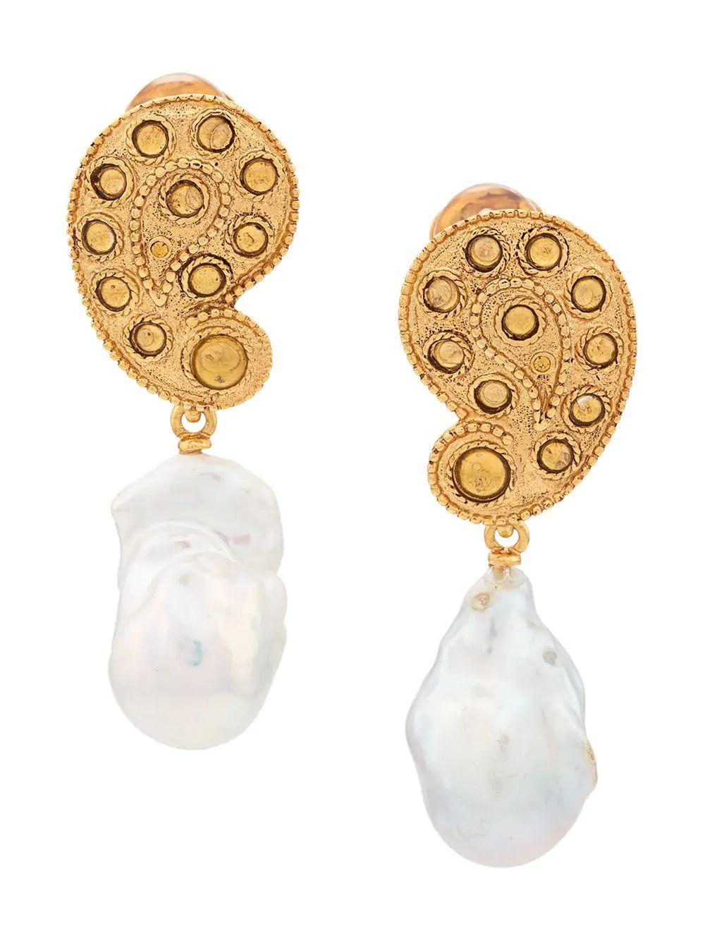 Taj Drop Pearl Earring