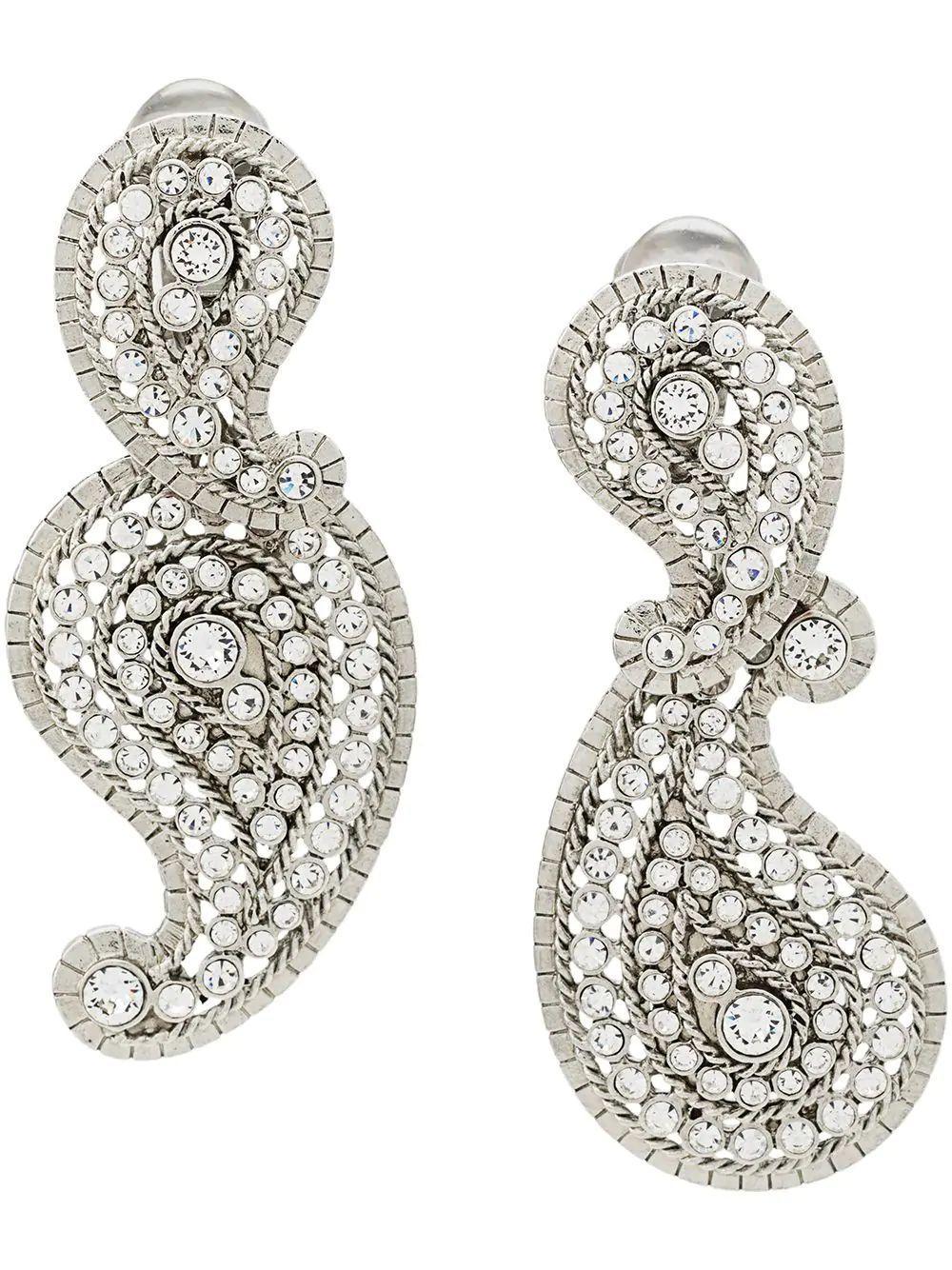 Paisley Crystal Earring