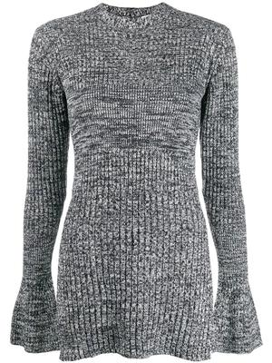 L/S Ribbed Tunic Bell Slv Sweater