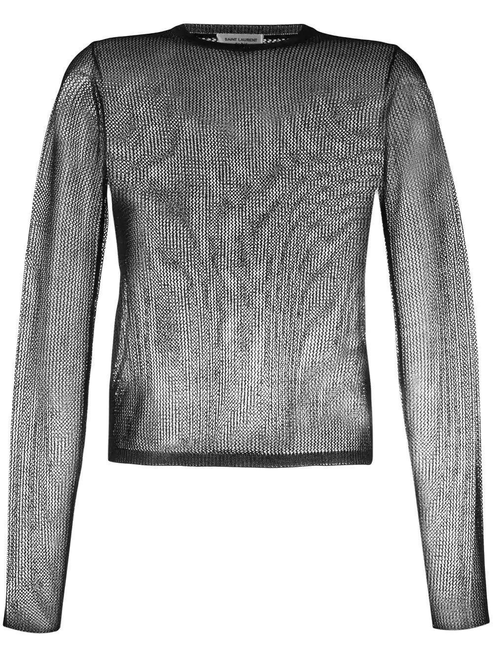 Long Sleeve Sequin T- Shirt Item # 589351YAIG2