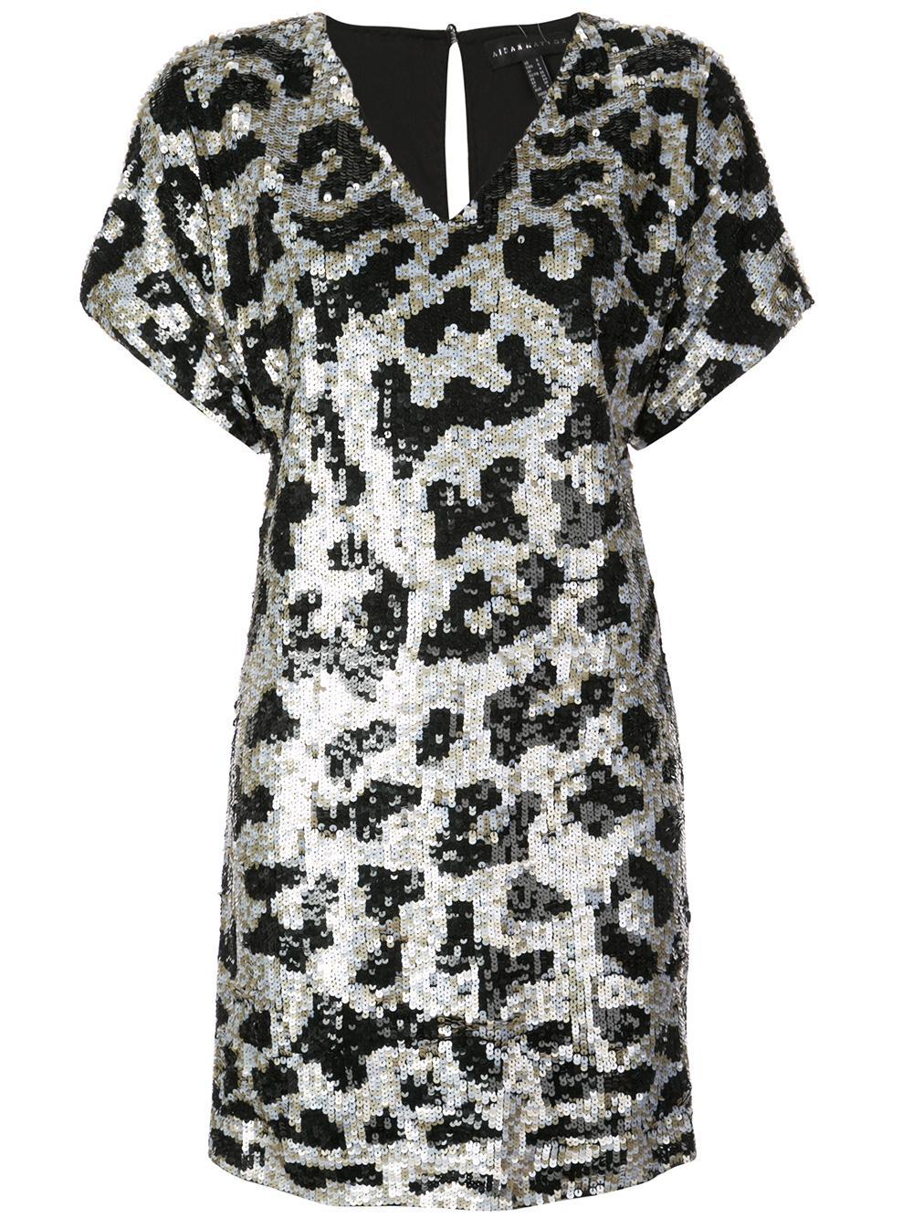 V-Neck Leopard Dress