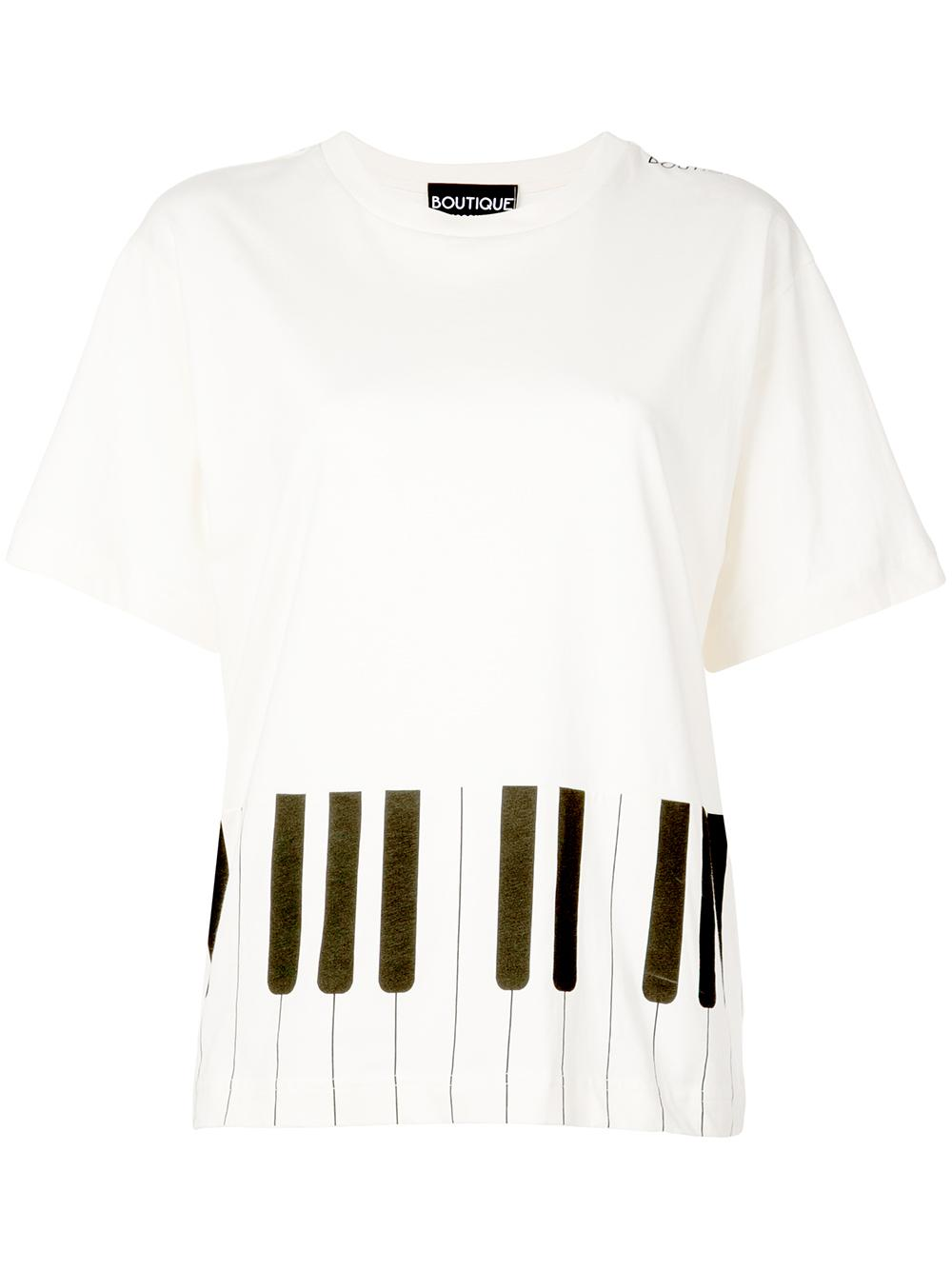 Short Sleeve Piano Print Tee