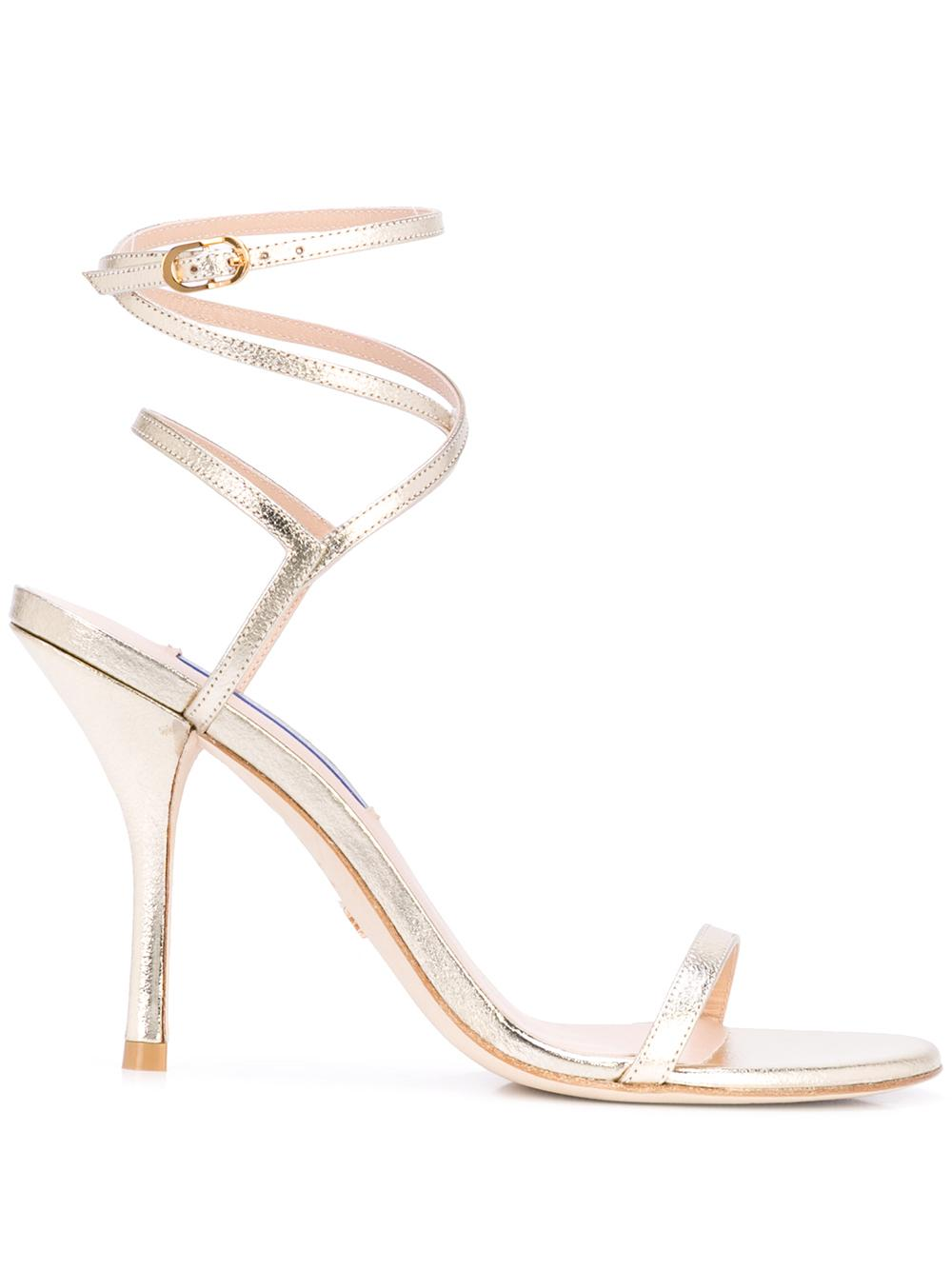 Lame 95mm Strappy Sandal