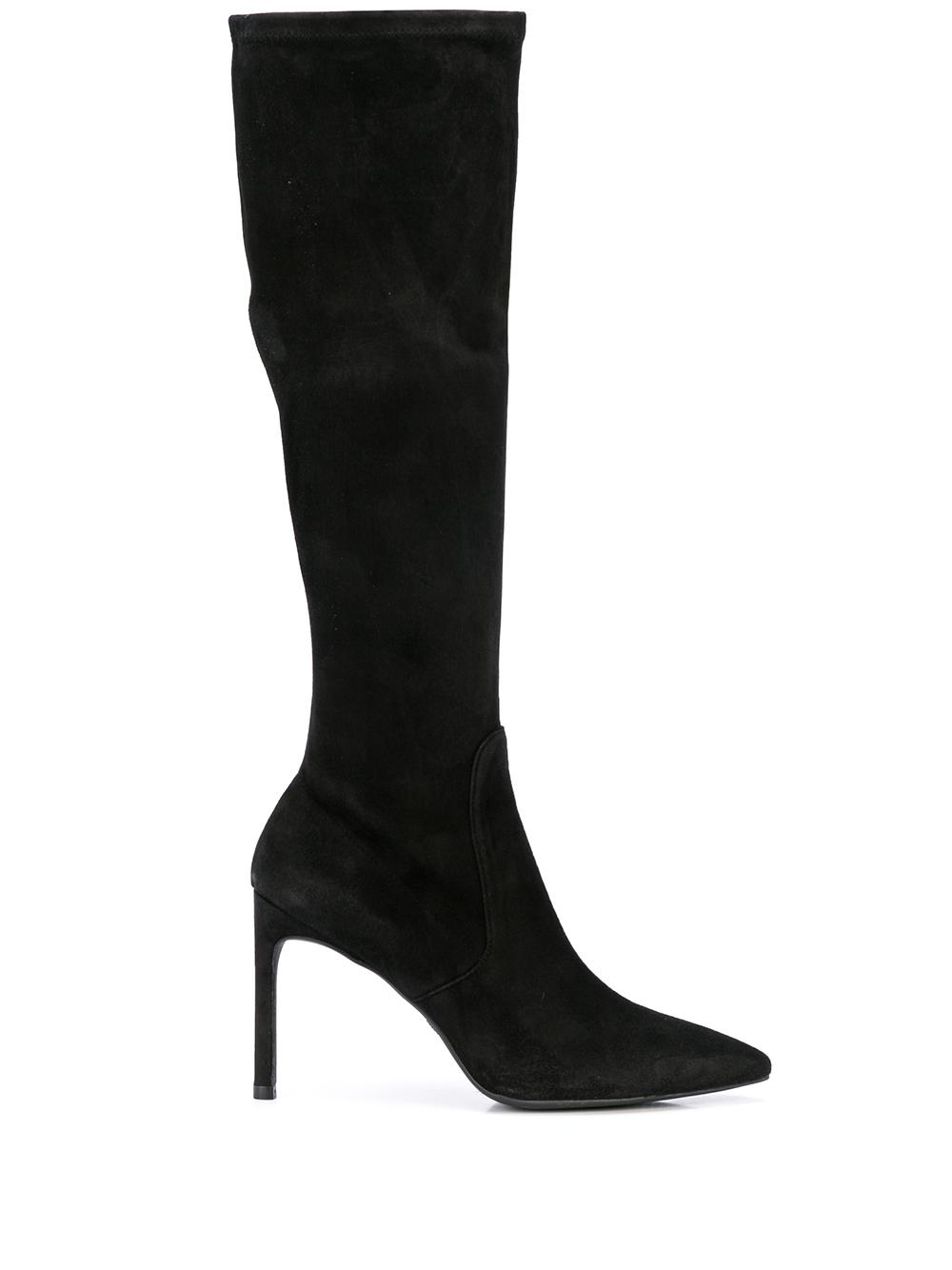 Tall Pointed Toe 95mm Suede Boot