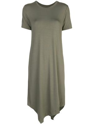Short Sleeve Crew Asymmetrical Dress