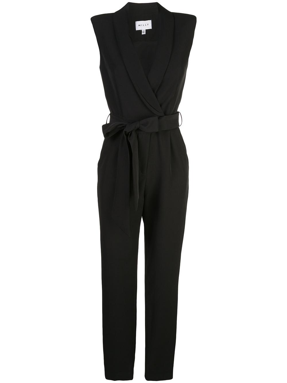 Jada Tie Belt Skinny Ankle Jumpsuit Item # 222IC030093