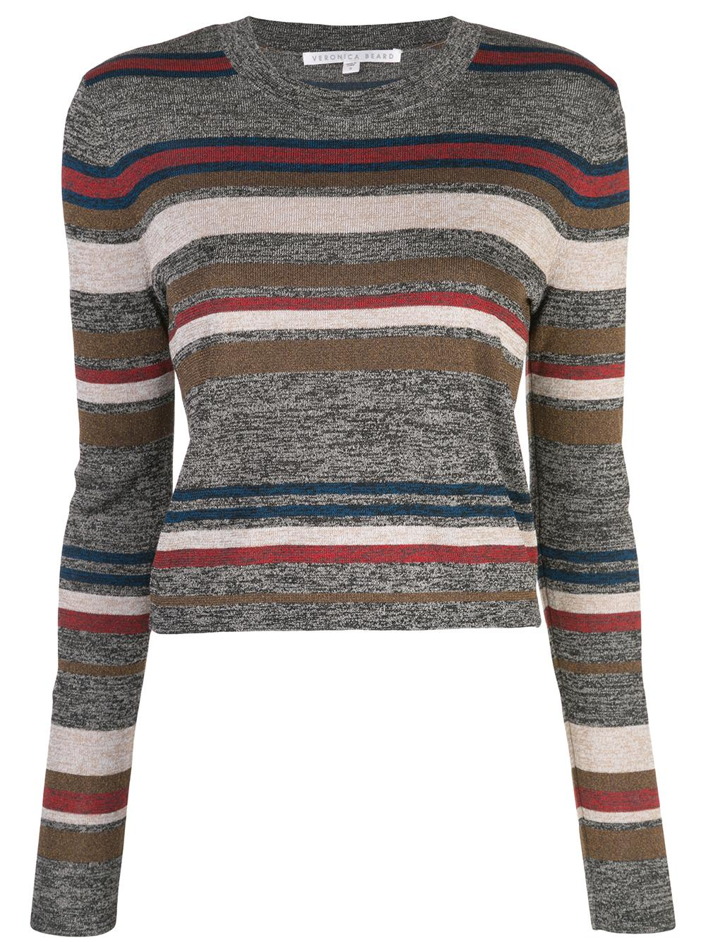 Jora Striped Knit Pullover Top Item # 1907KN4639314