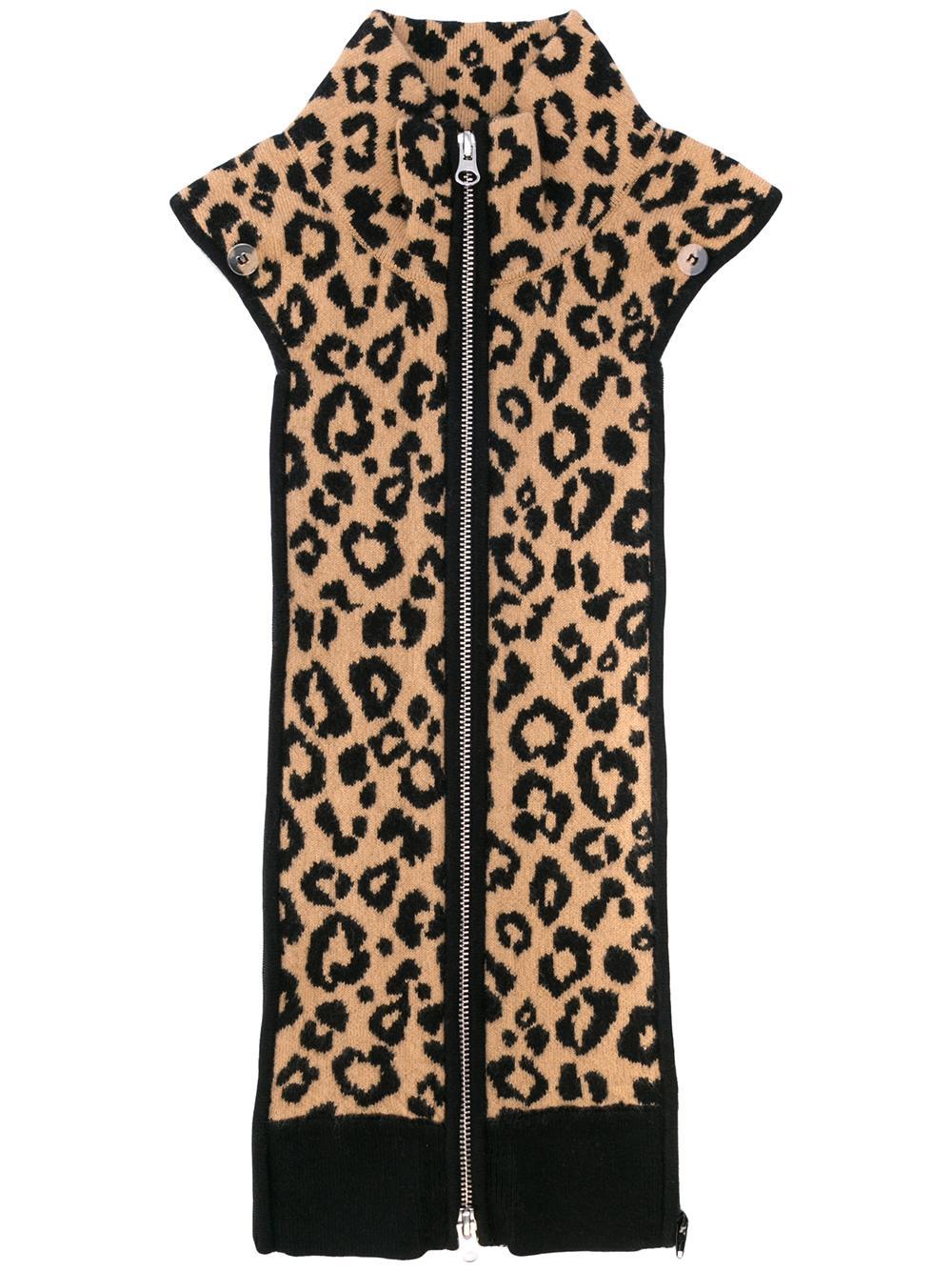 Toni Leopard Print Dickey