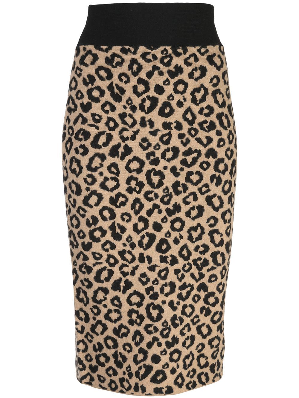 Bethel Leopard Print Knit Skirt