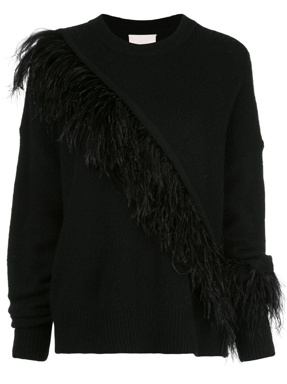 Merritt Feather Detail Pullover Sweater