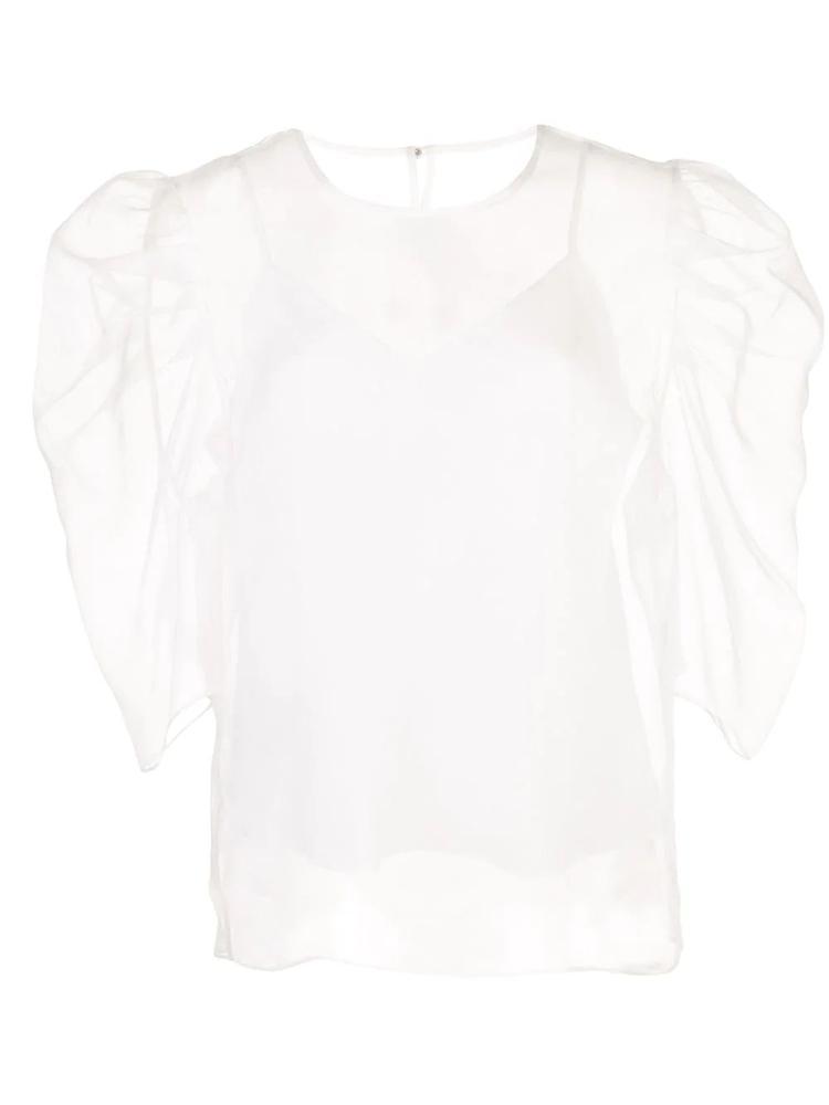 Erin Sheer Puff Sleeve Top Item # ZW7112462Z-R20