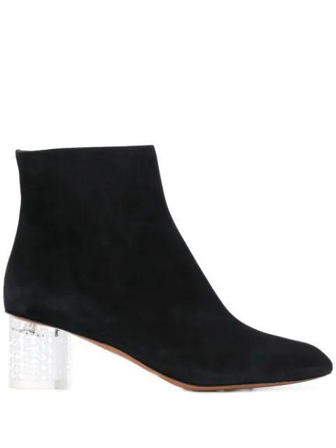 Pointed Toe Block Heel Bootie