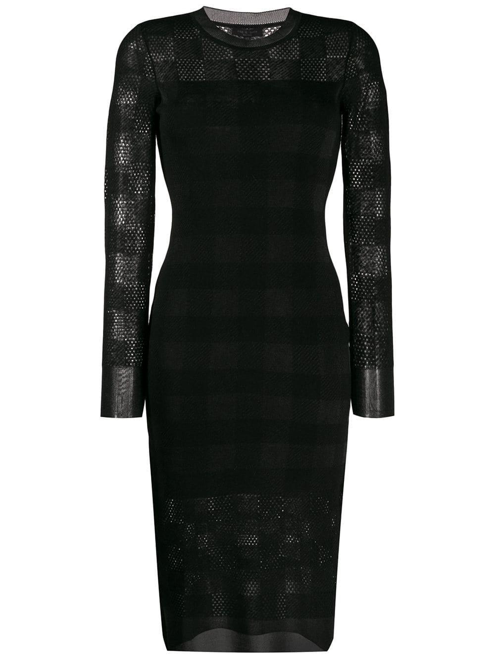 Charlotte Check Long Sleeve Dress Item # WAS19FS007KG07