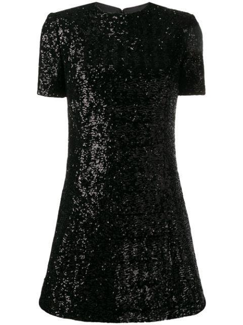 Short Sleeve Pailette Dress