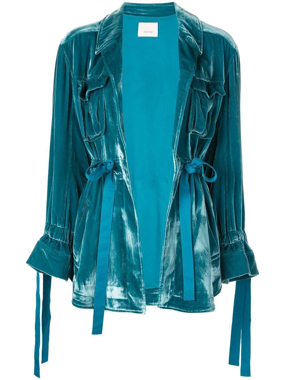 Mathieu Velvet Drawstring Jacket Item # ZJ2112057Z-F19