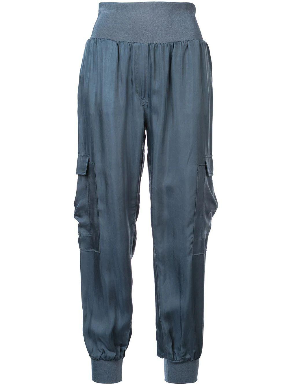 Giles Silk Track Pant Item # ZP178304Z-F19