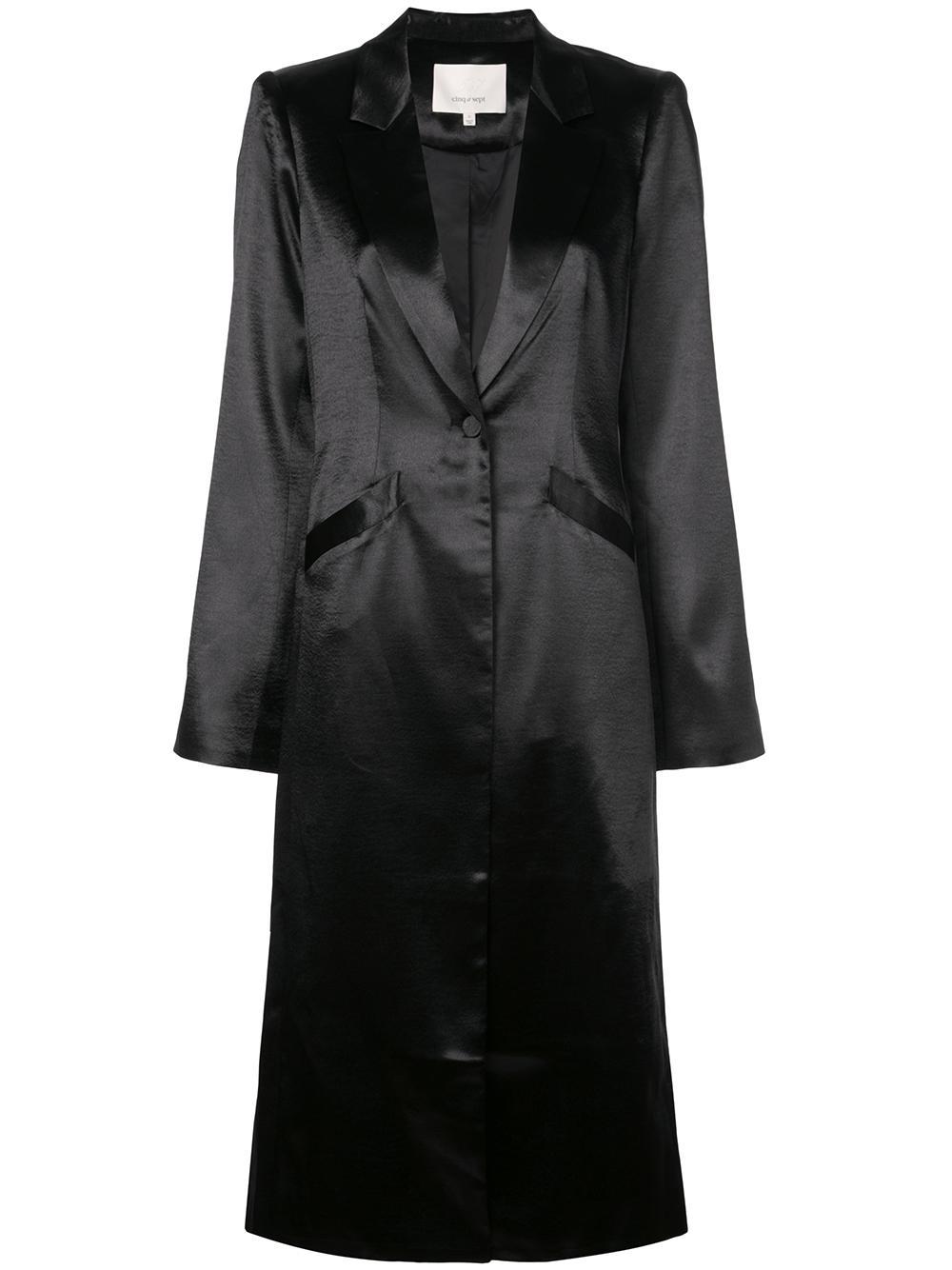 Vicky Silk Long Coat Item # ZC0312740Z