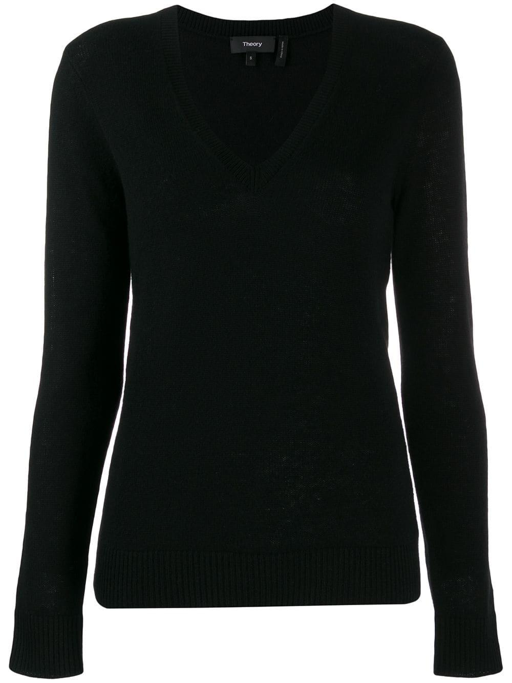 Feather Cashmere VNeck Sweater