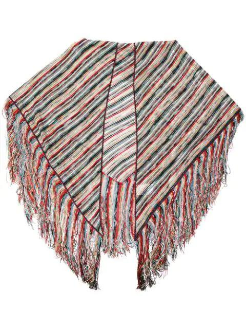 Striped Knit Shawl