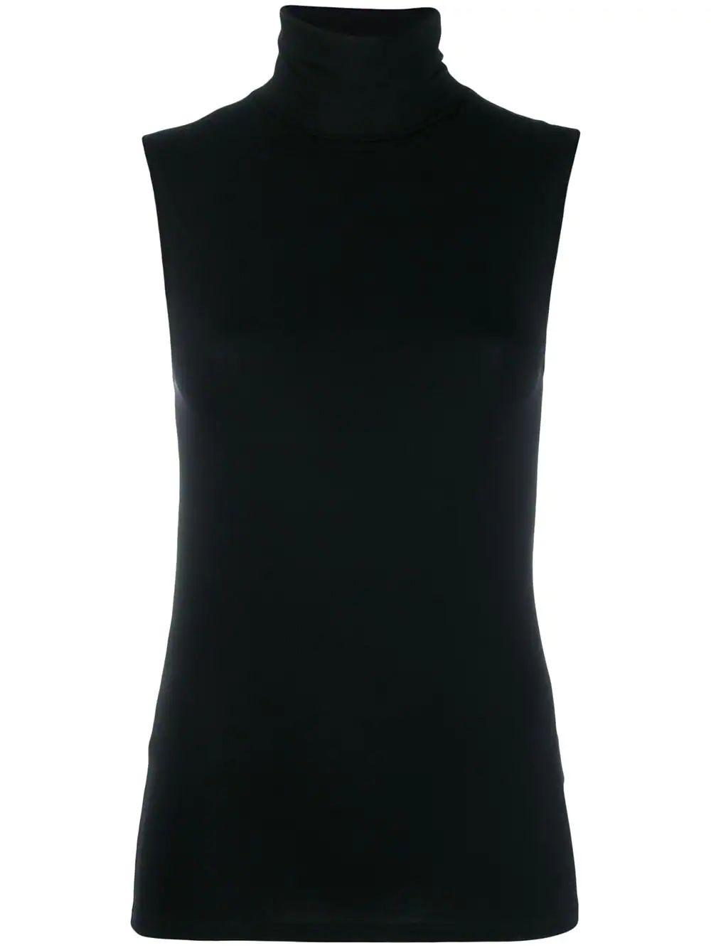 Viscose Elastane  Sleeveless Turtleneck
