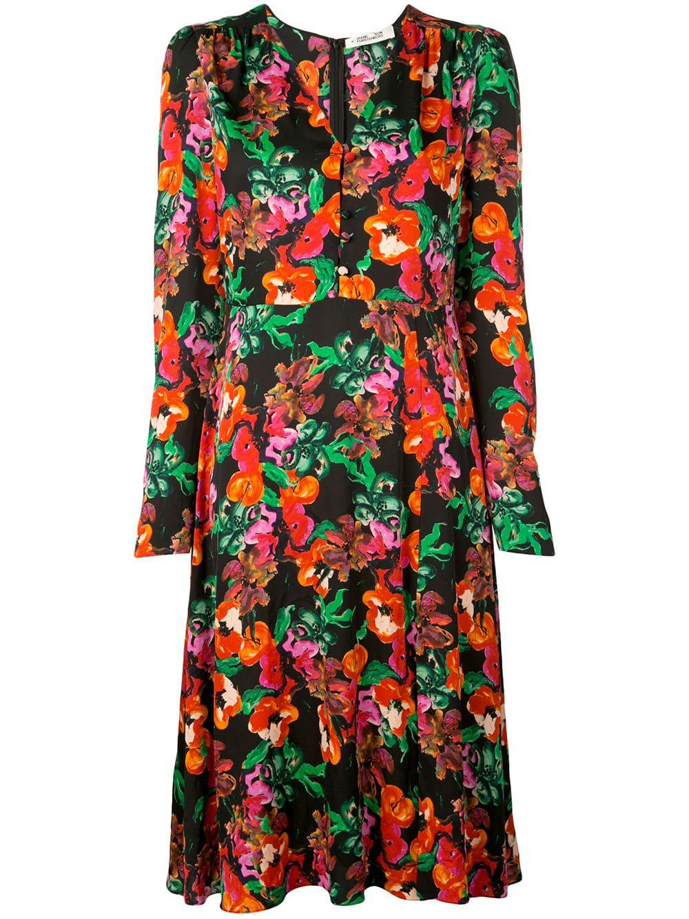 Viviana Long Sleeve Floral Dress Item # 13019DVF