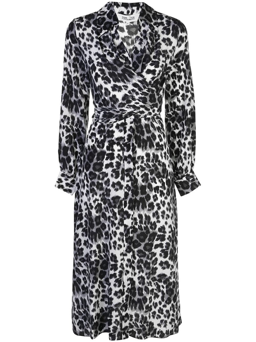 Donika Collar Leopard Dress