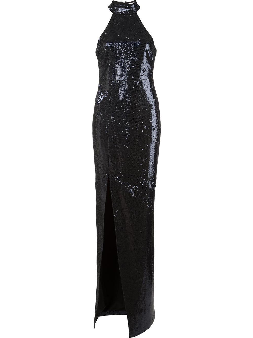 Carrie Mock Neck Sequin Gown