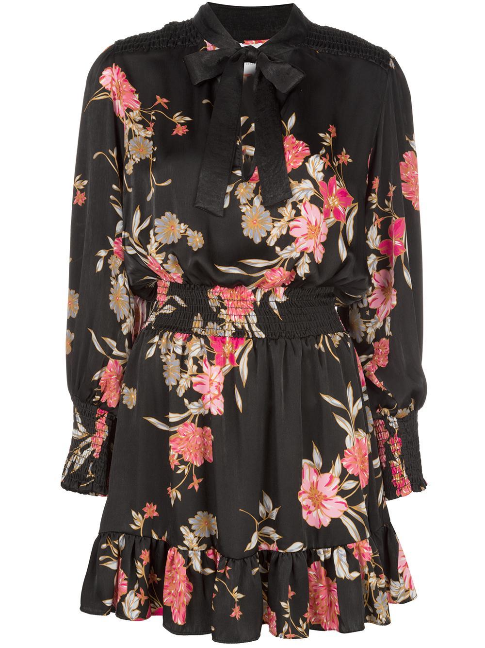 Iyana Silk Large Flower Button-Up Dress