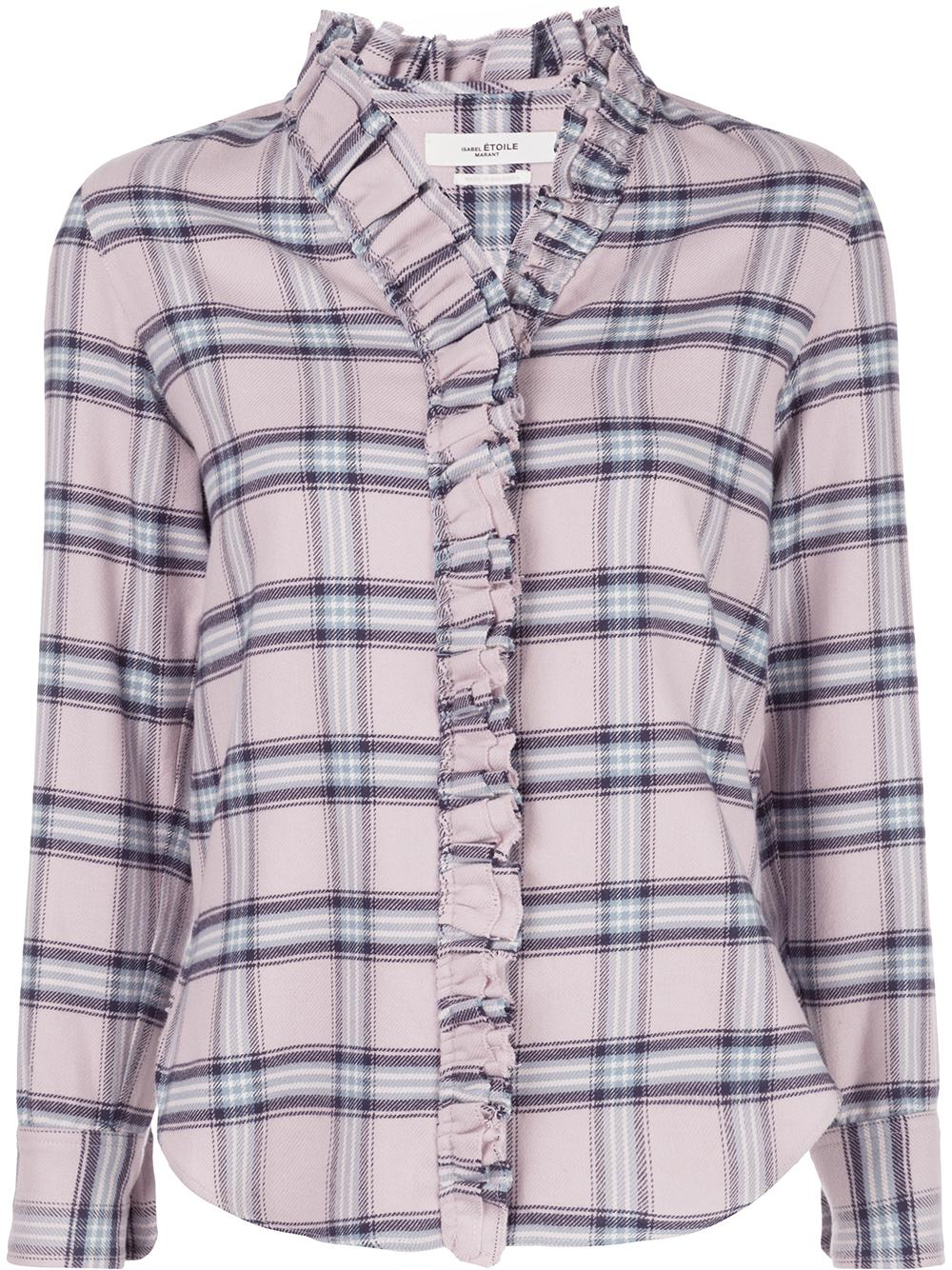 Plaid Ruffle Blouse Item # AWENDY