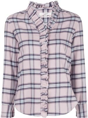 Plaid Ruffle Blouse