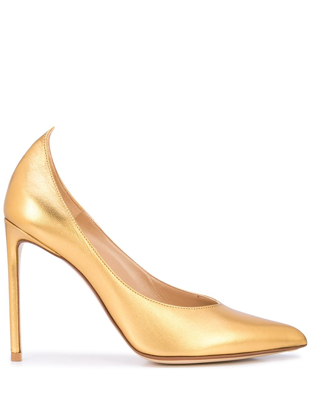 Laminated Leather 105mm Peak Heel Pump