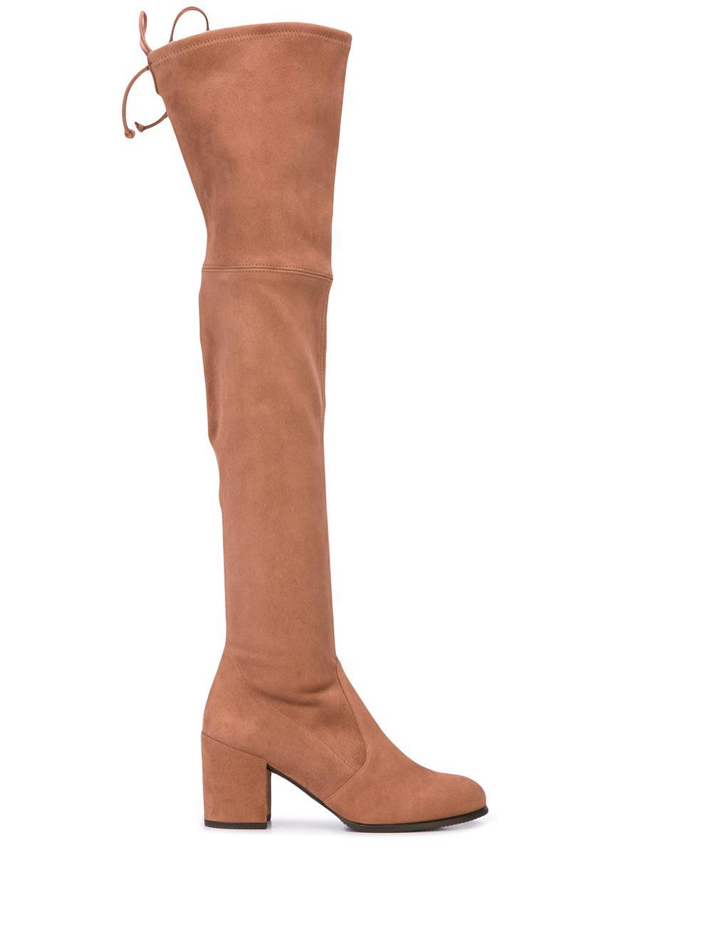 Otk Suede Stretch 65 Mm Block Heel Boots Item # TIELAND