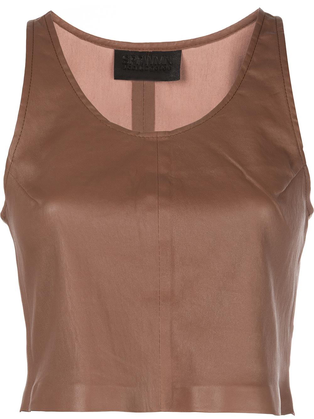 Leather Crop Tank