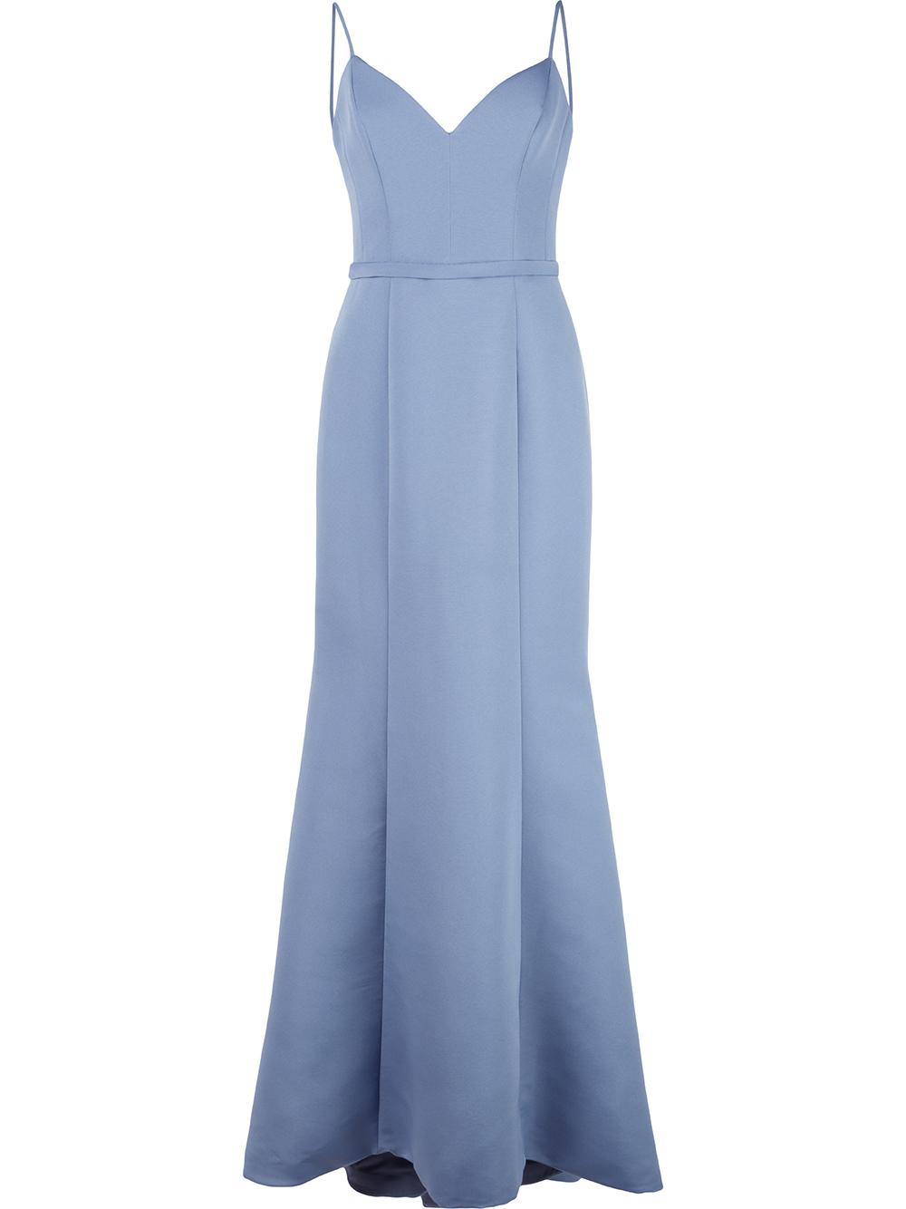 Sleevless A Line Gown
