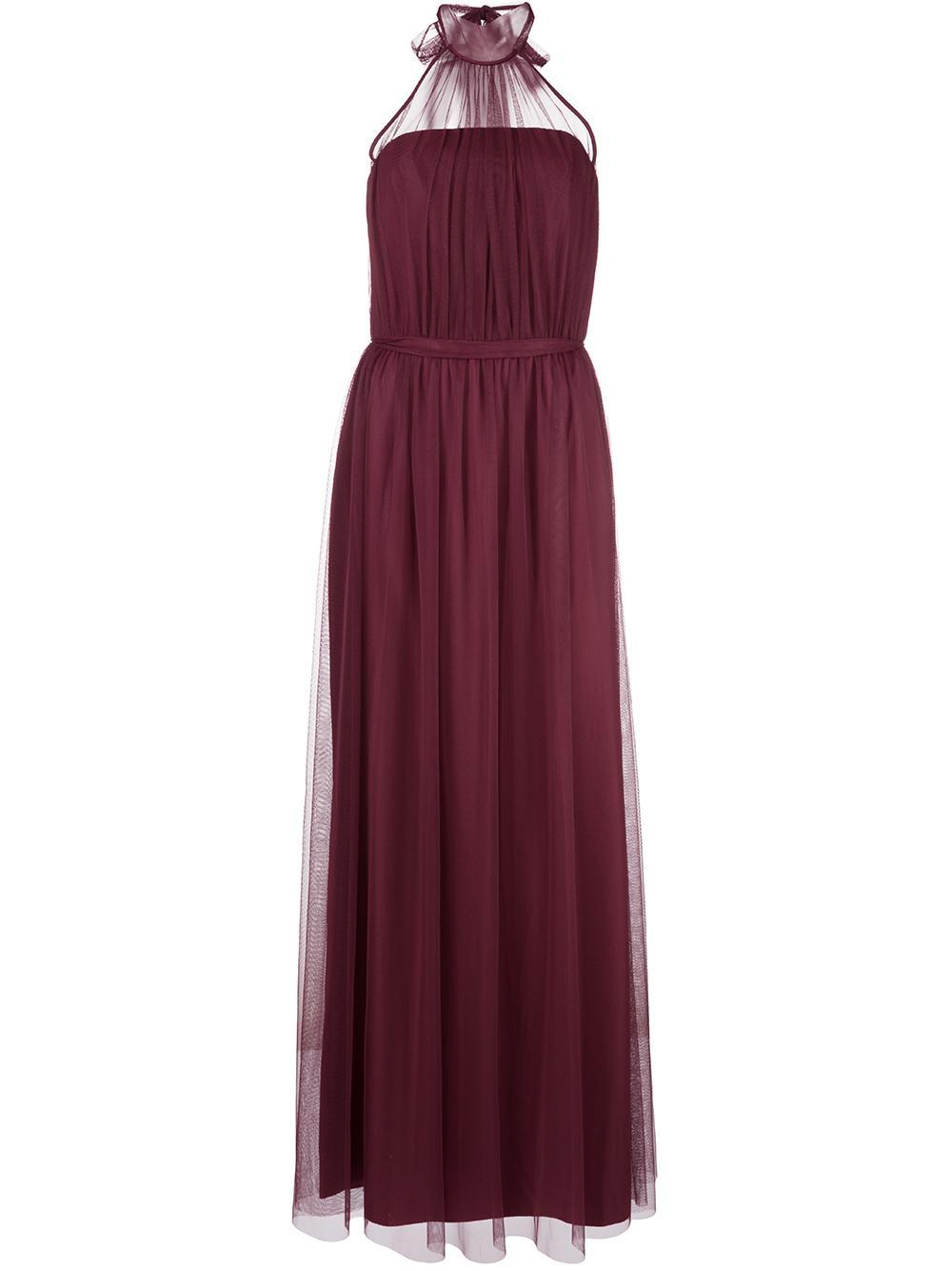 Halter Neck Tulle Gown Item # GB113U