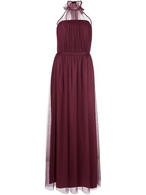 Halter Neck Tulle Gown
