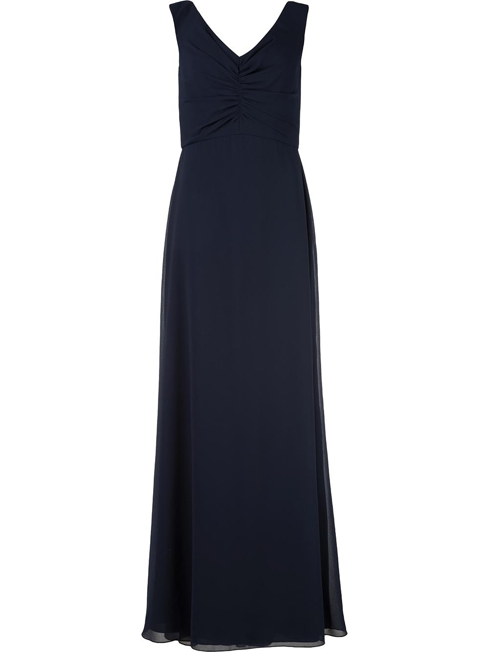 Off The Shoulder V Neck Gown Item # GB122F